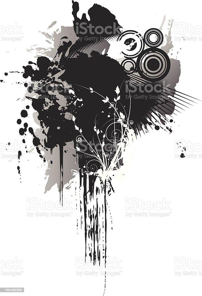 flourish paint splatter royalty-free stock vector art