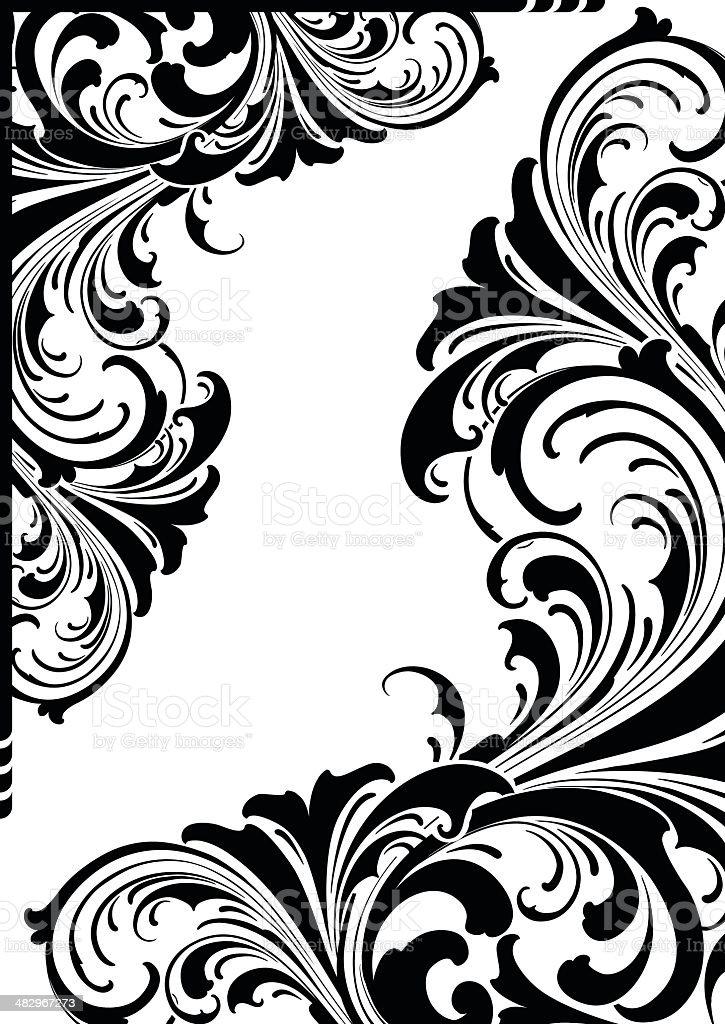 Flourish Victorian Scrolls vector art illustration