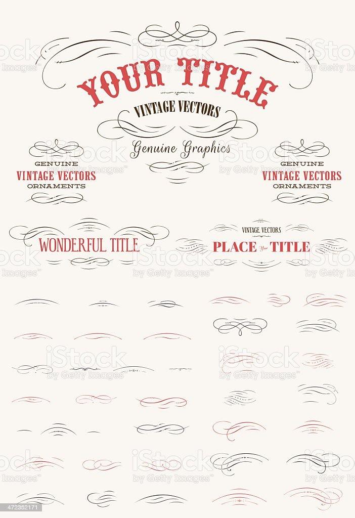 Flourishes Vintage Vector Kit royalty-free stock vector art