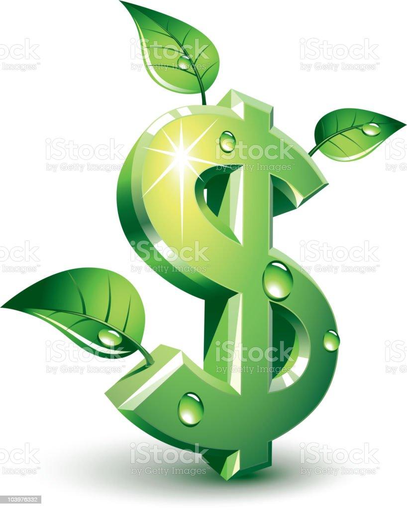 Flourishing dollar royalty-free stock vector art