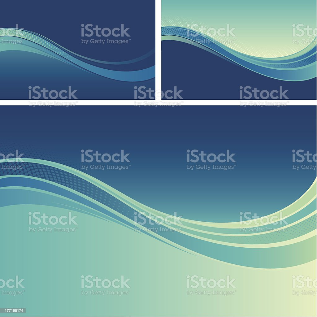 Flow background designs royalty-free stock vector art