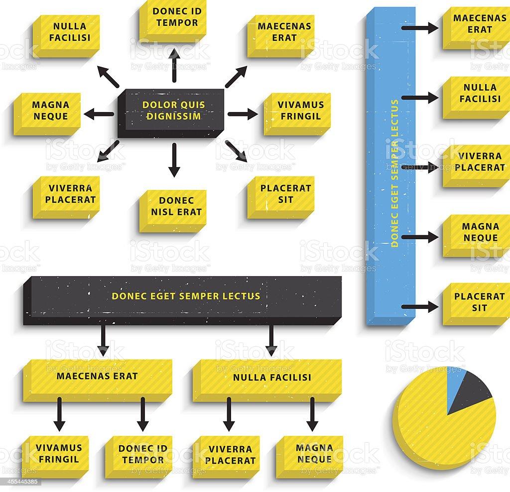 Flow Chart Templates. royalty-free stock vector art