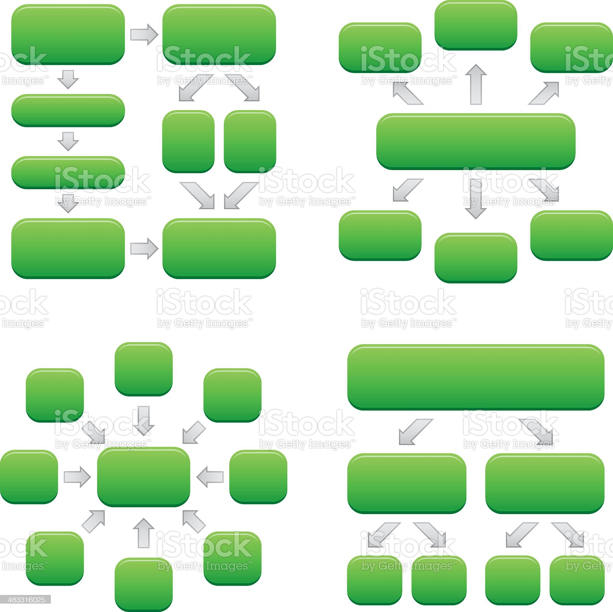 Flow charts royalty-free stock vector art