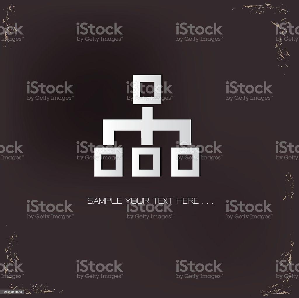 Flowchart symbol,vector vector art illustration