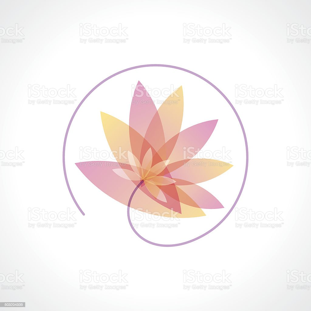 flower abstract vector design template. Health & SPA vector art illustration