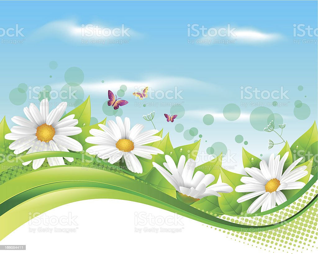 Flower and leaf banner royalty-free stock vector art