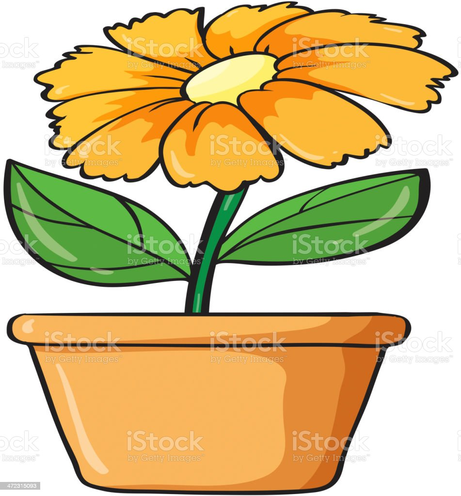 Flower and plant royalty-free stock vector art
