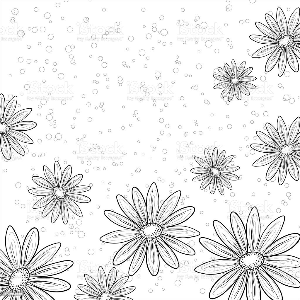 Flower background, contours royalty-free stock vector art