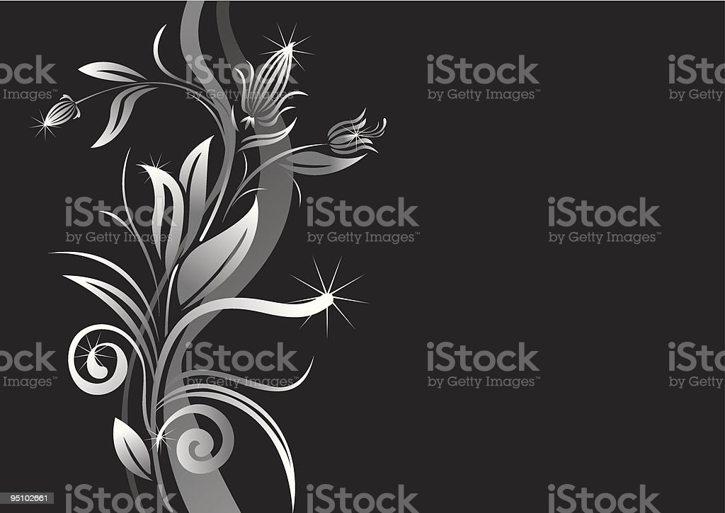 Flower background in grey scale royalty-free stock vector art