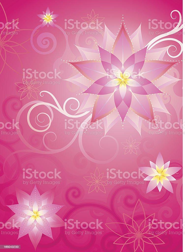 flower background in pink (vector) vector art illustration