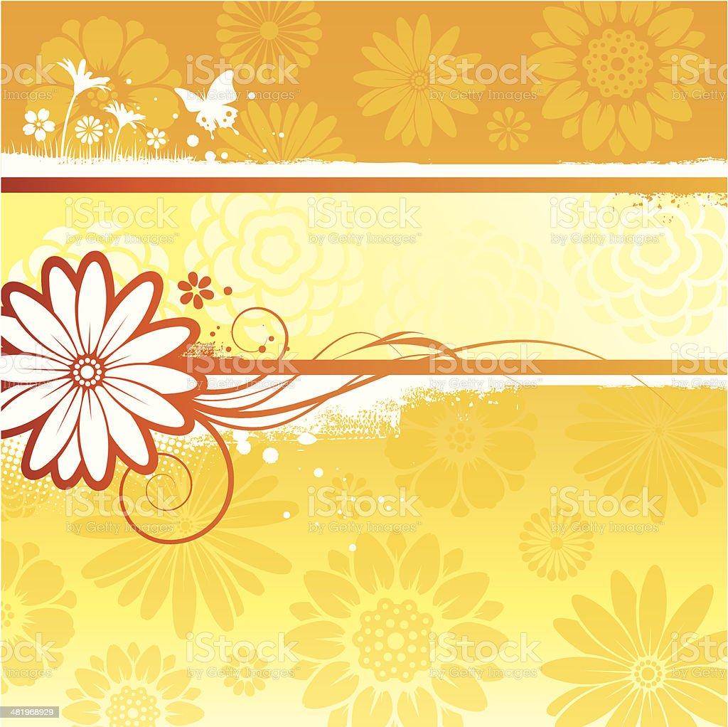Flower background vector art illustration