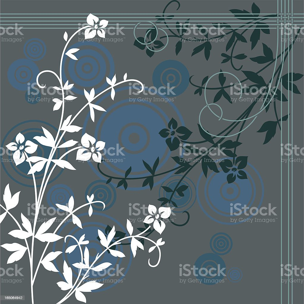 flower blue background royalty-free stock vector art