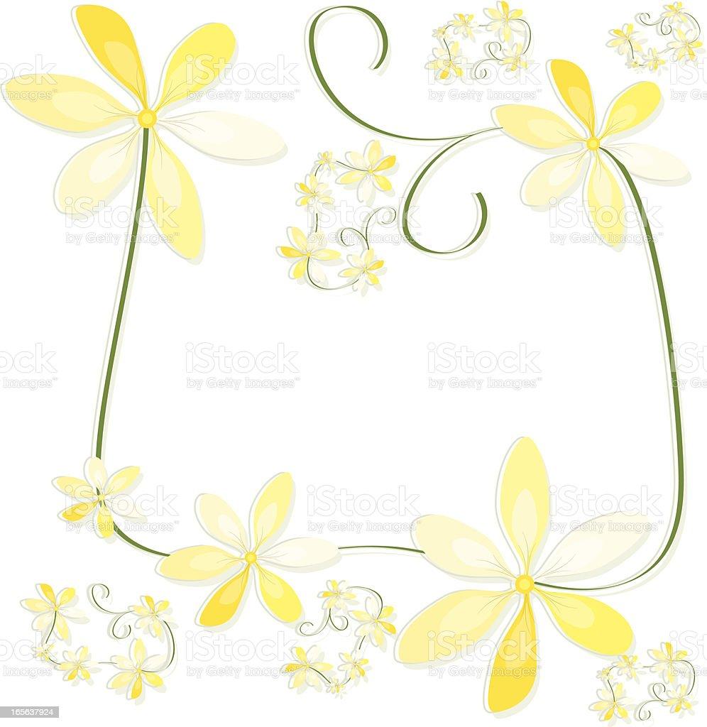 Blume Grenze Design, Hintergrund mit Textfreiraum Lizenzfreies vektor illustration