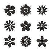 Flower bud set, vector illustration