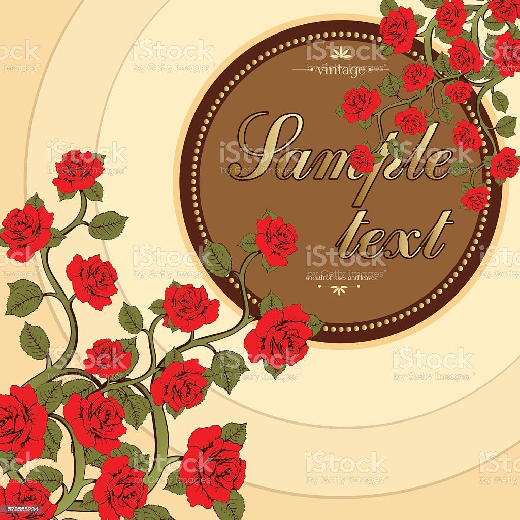 Flower card, flower bouquet of roses, cover, flower frame, banner royalty-free stock vector art