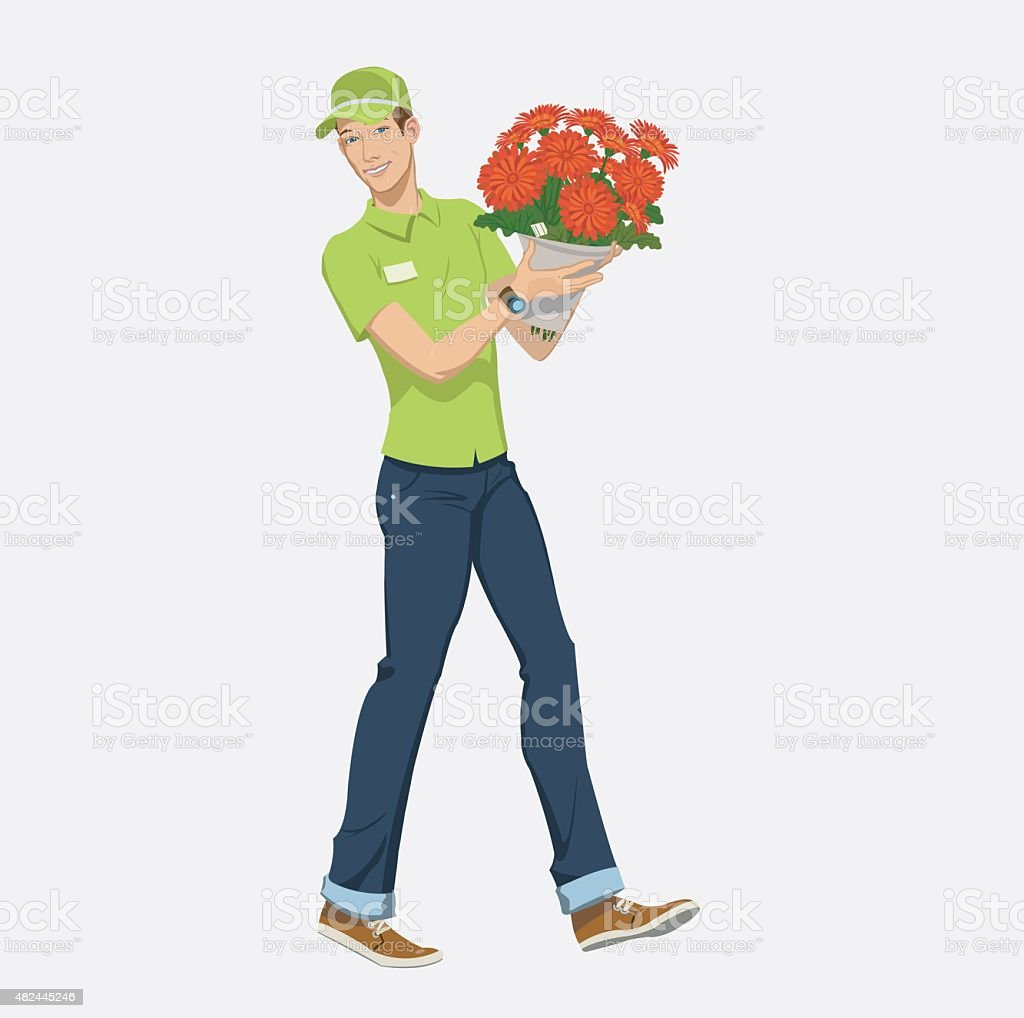 flower delivery royalty-free stock vector art