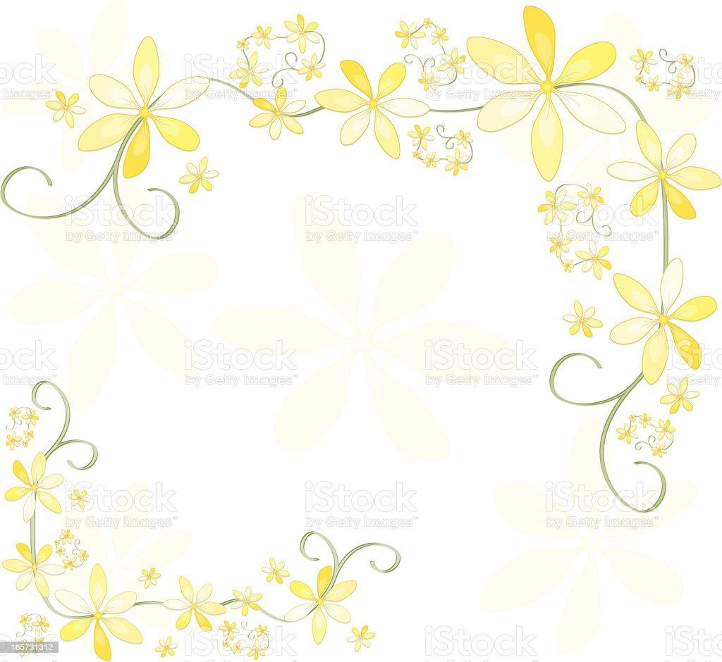 Blume Design, Hintergrund oder Ecke Elemente: Pastell Gelb Lizenzfreies vektor illustration