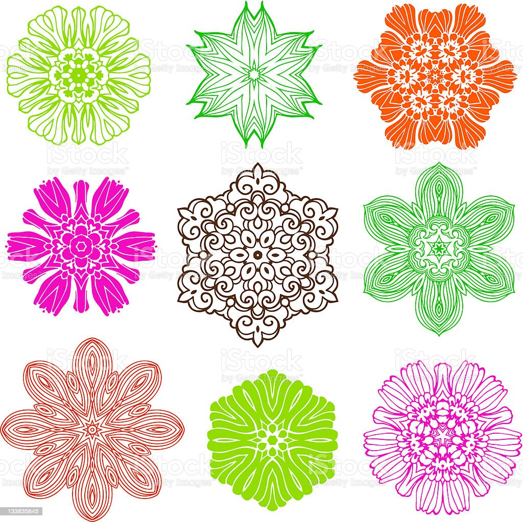 Flower Design Elements royalty-free stock vector art
