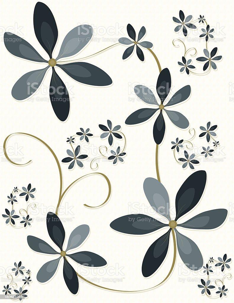 Blume Design, Muster oder Hintergrund. Lizenzfreies vektor illustration