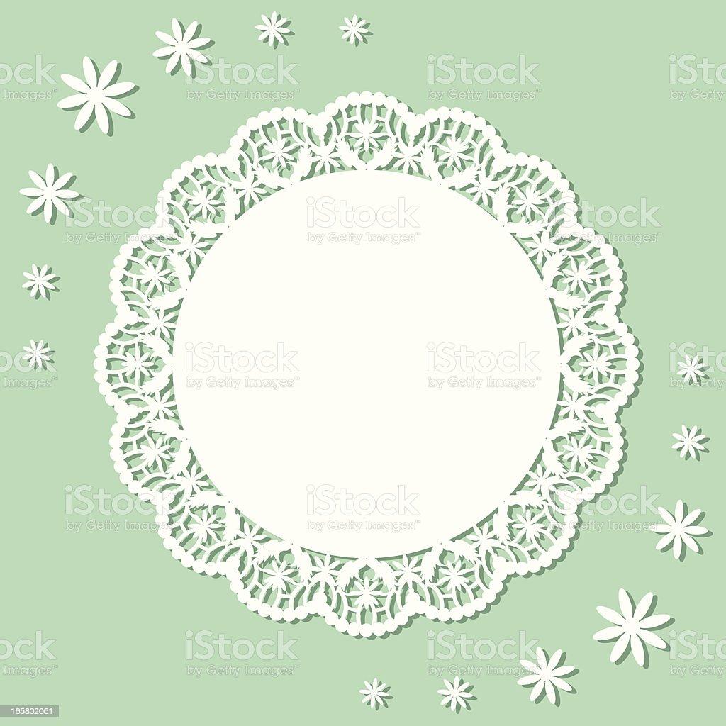 Flower Doily vector art illustration