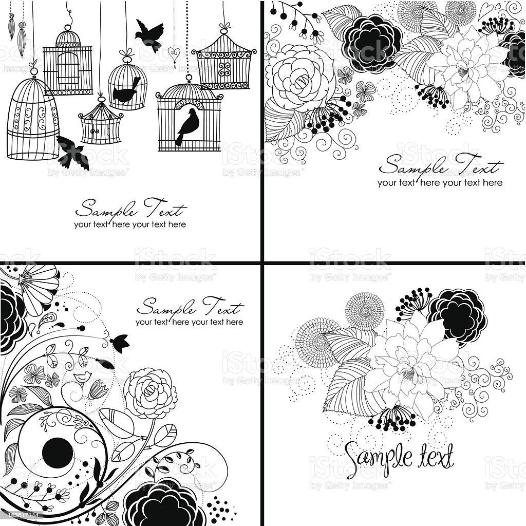 Flower Doodle royalty-free stock vector art