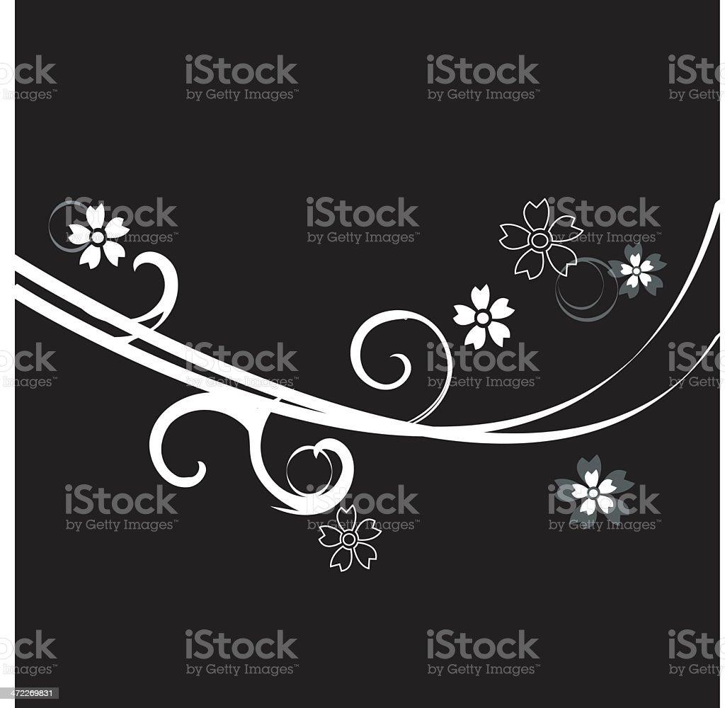 flower element 4 royalty-free stock vector art