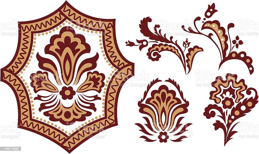 Elemento di design fiore illustrazione royalty-free