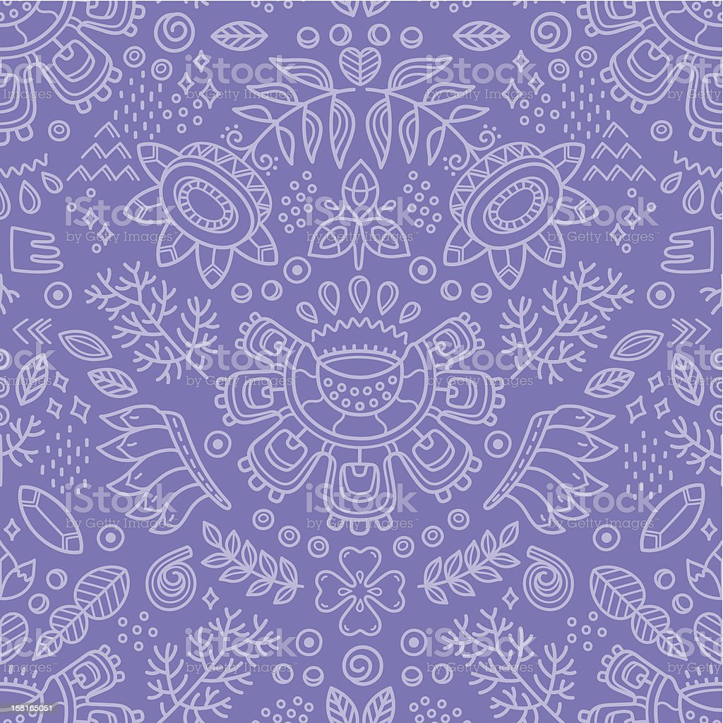 Flower ethnic decorative background. Seamless pattern royalty-free stock vector art