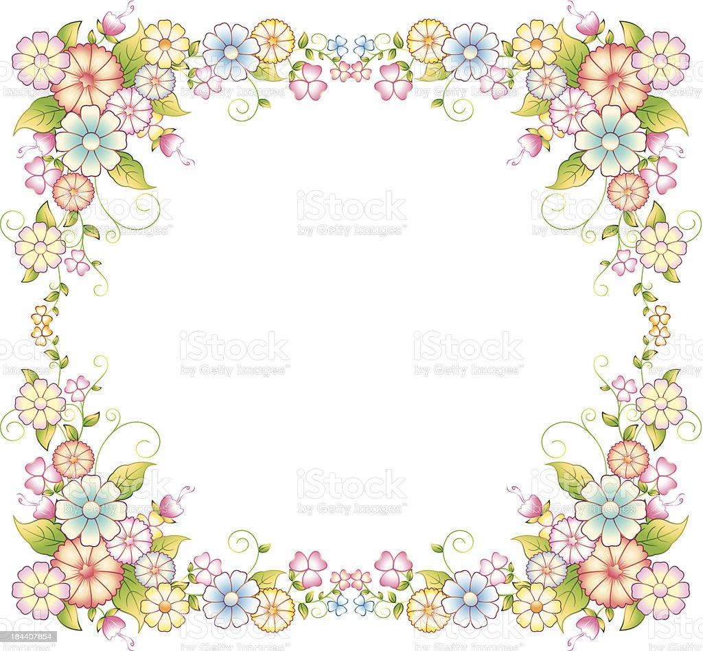 Flower Frame royalty-free stock vector art