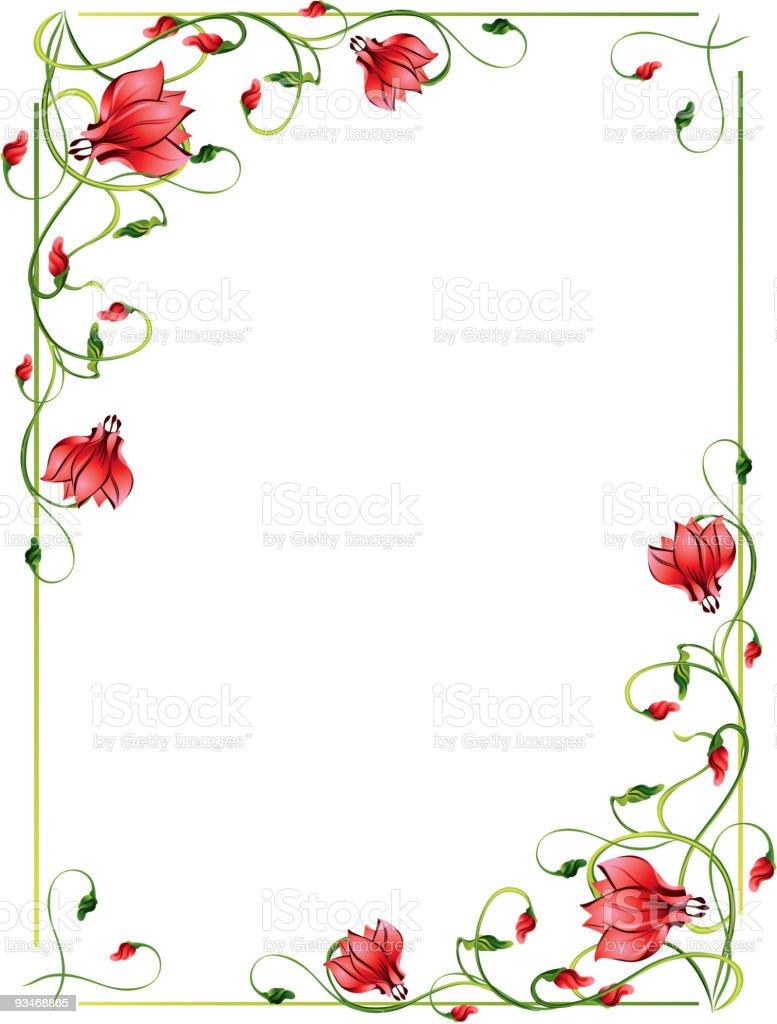 flower frame stock vector art 93468865 istock. Black Bedroom Furniture Sets. Home Design Ideas