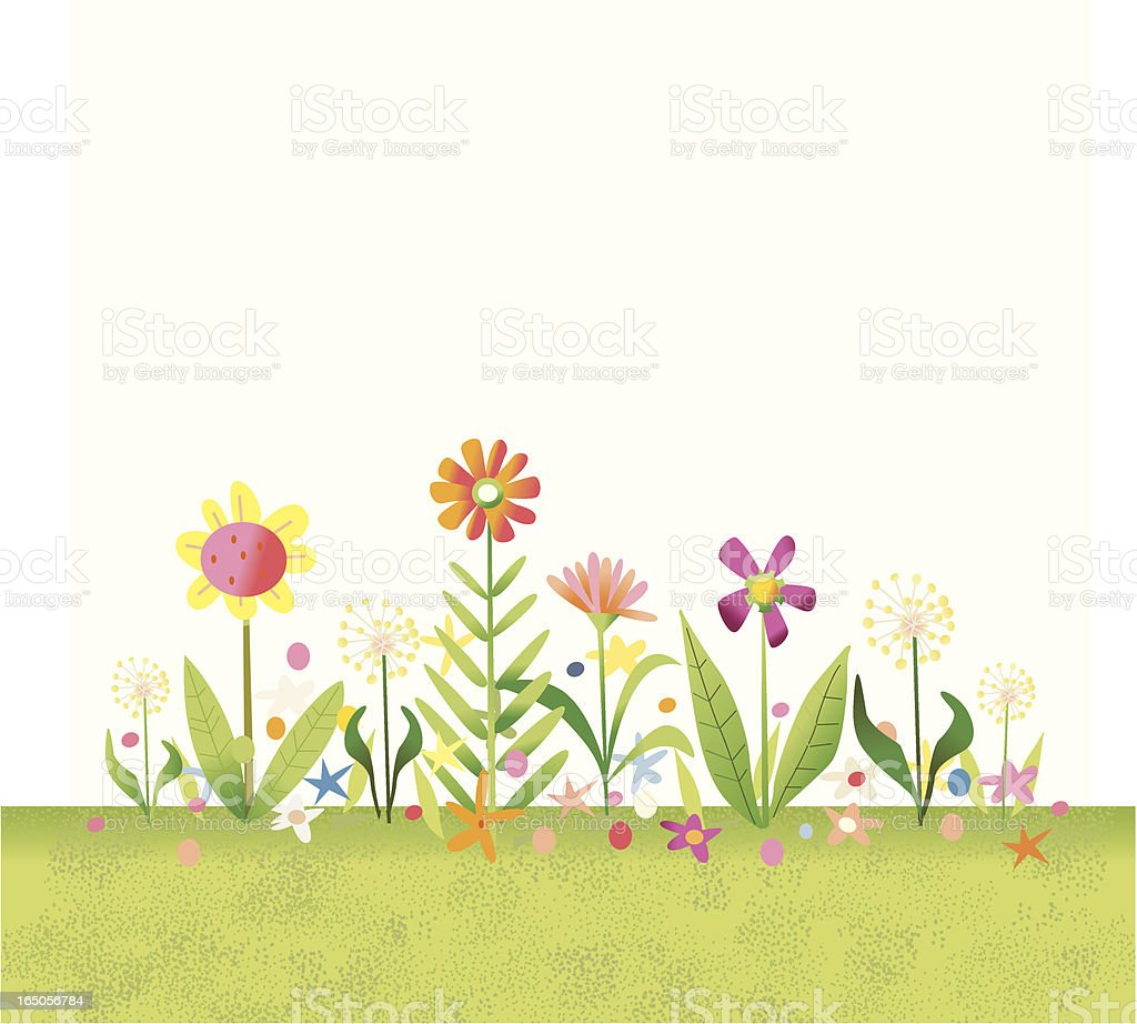 Flower Garden White royalty-free stock vector art