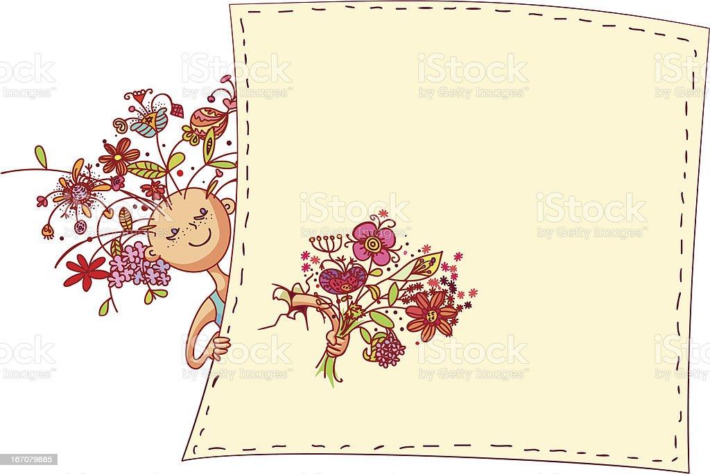 Flower girl royalty-free stock vector art