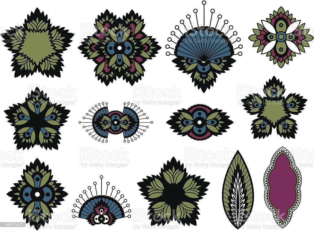 Grafica fiori design illustrazione royalty-free
