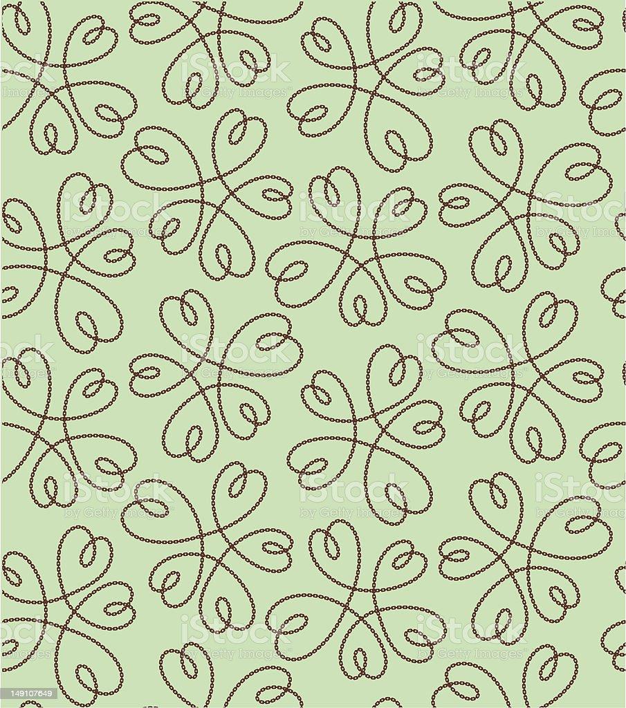 flower heart pattern vector art illustration