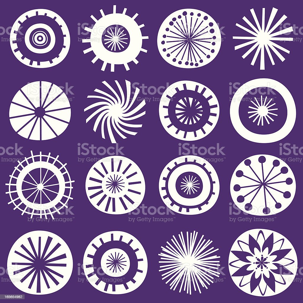 Flower icon collection royalty-free stock vector art