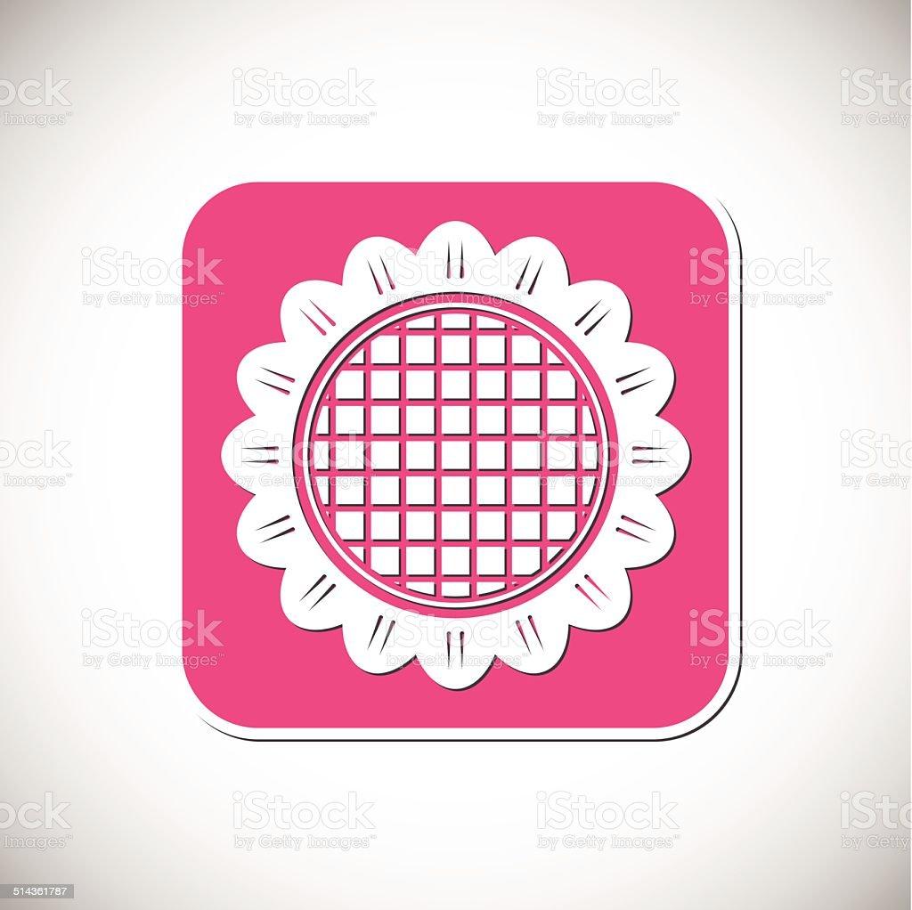 Fleur emblématique.  Cadre de rose.  illustration vectorielle stock vecteur libres de droits libre de droits