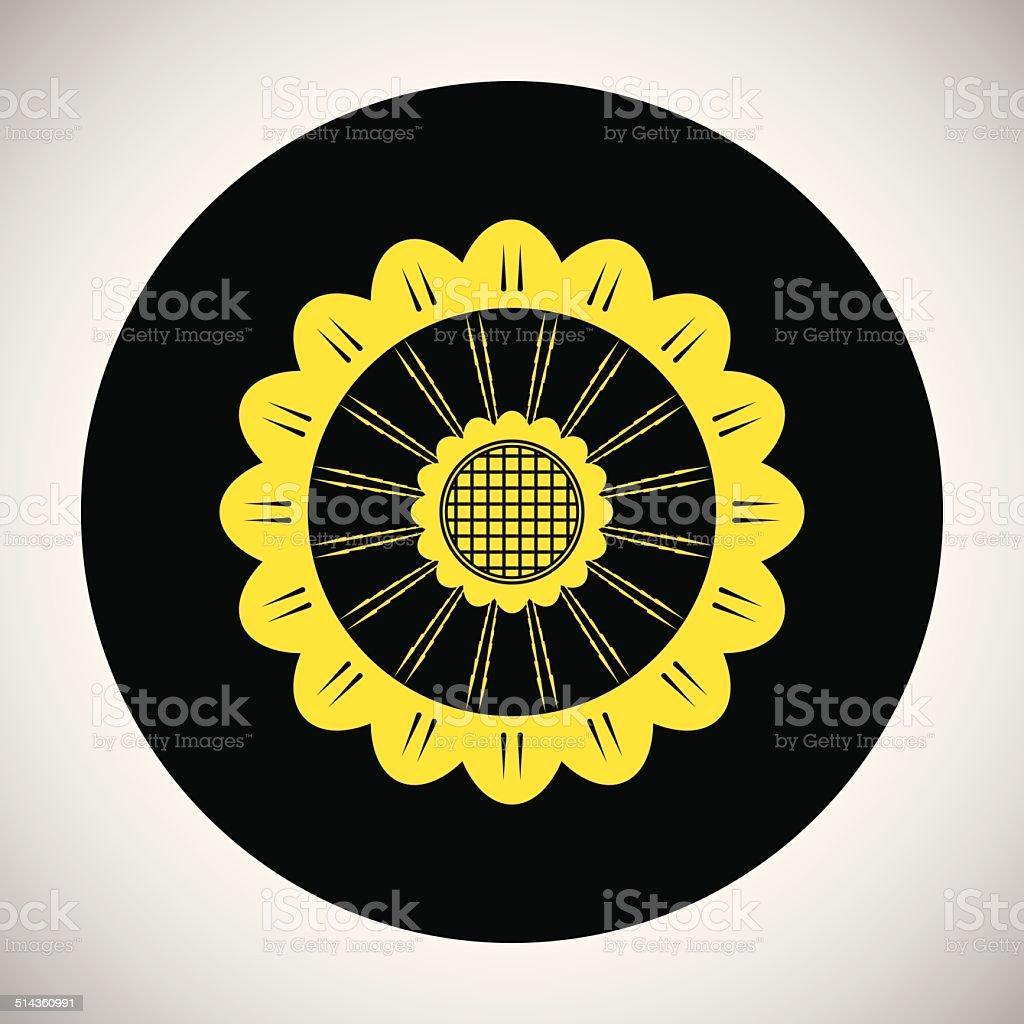 Icône de fleur stock vecteur libres de droits libre de droits
