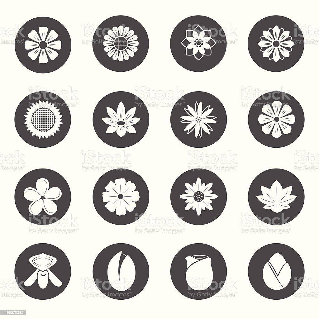 Flower Icons. Blossom Vector. vector art illustration
