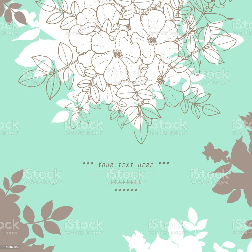 Flower illustration design with text space royalty-free stock vector art