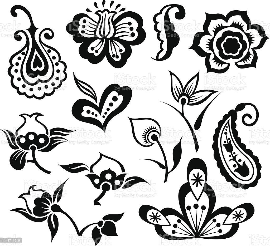 Illustrazione di fiori illustrazione royalty-free