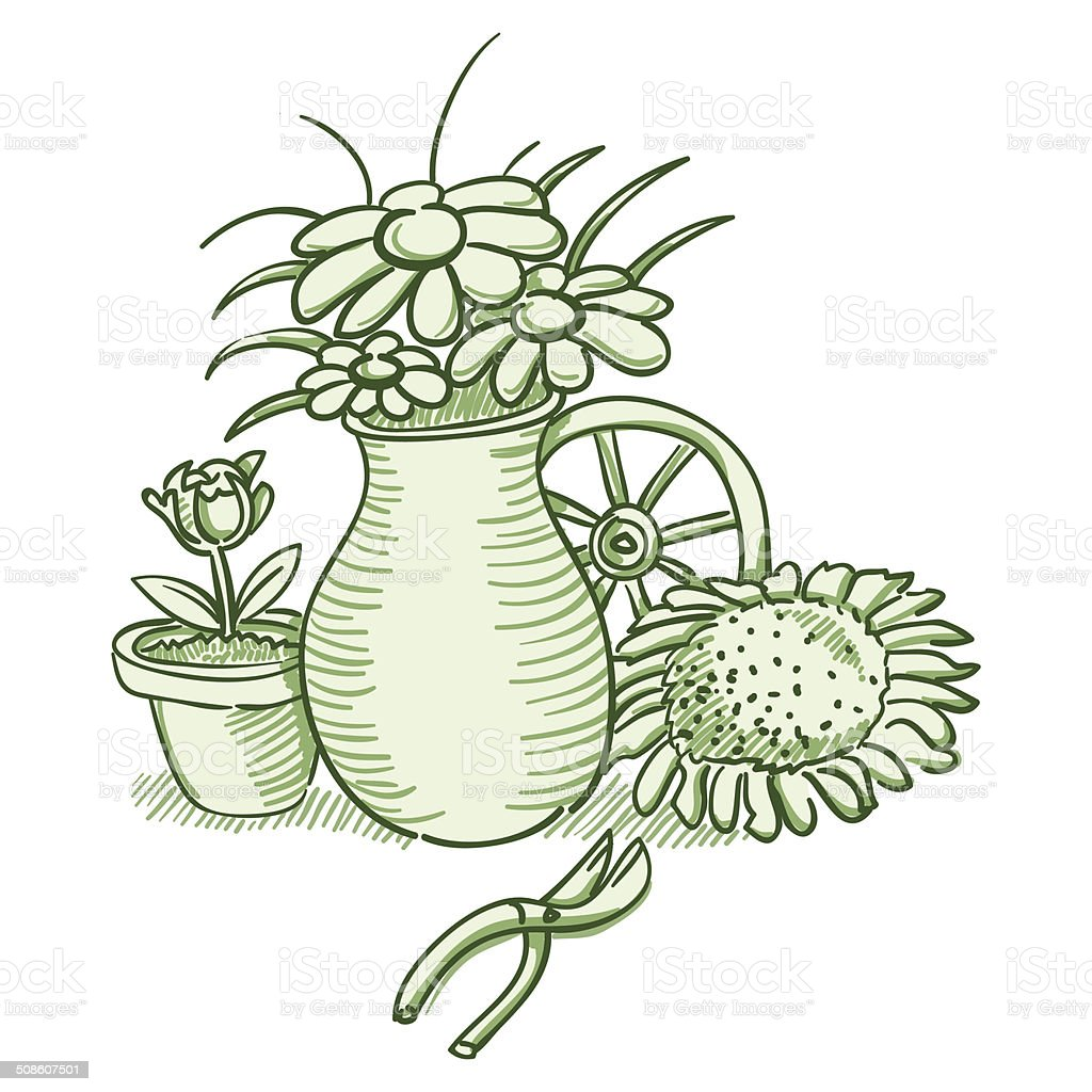 Flower Illustration vector art illustration