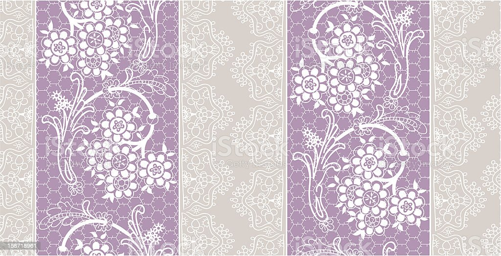 Flower Lace Pattern royalty-free stock vector art