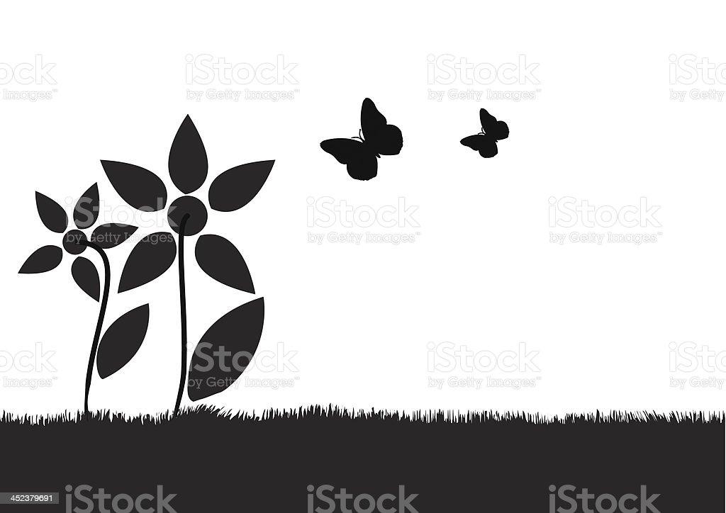 Flower meadow royalty-free stock vector art