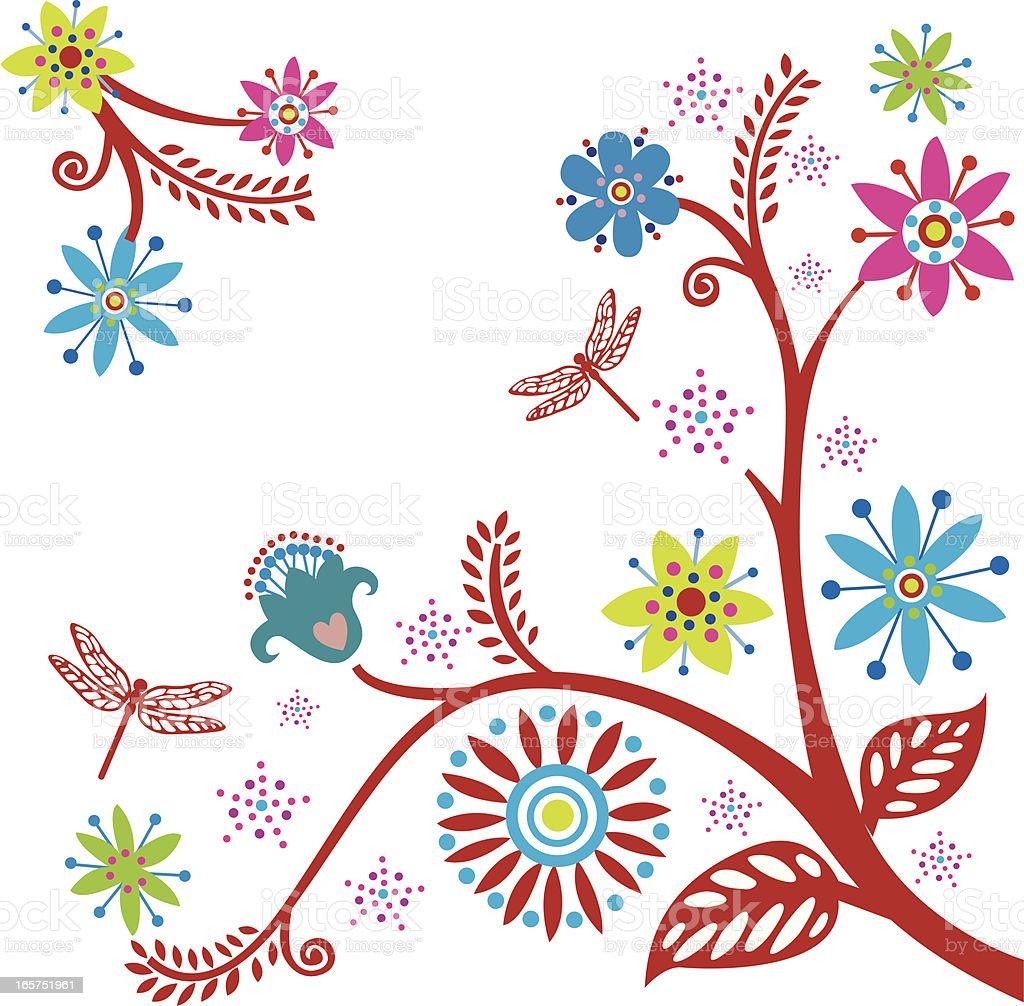 flower motifs royalty-free stock vector art