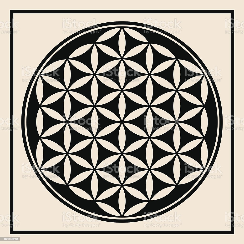Flower of Life Symbol royalty-free stock vector art