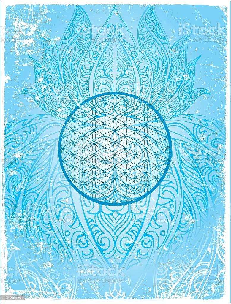 flower of life vector art illustration