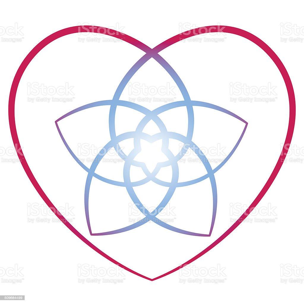 Flower of the Venus Heart vector art illustration