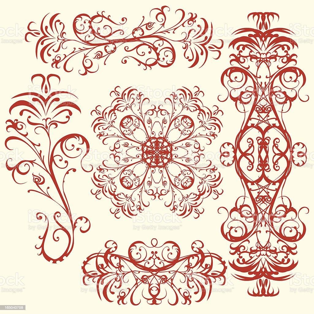 Blume ornament design-Elemente Lizenzfreies vektor illustration