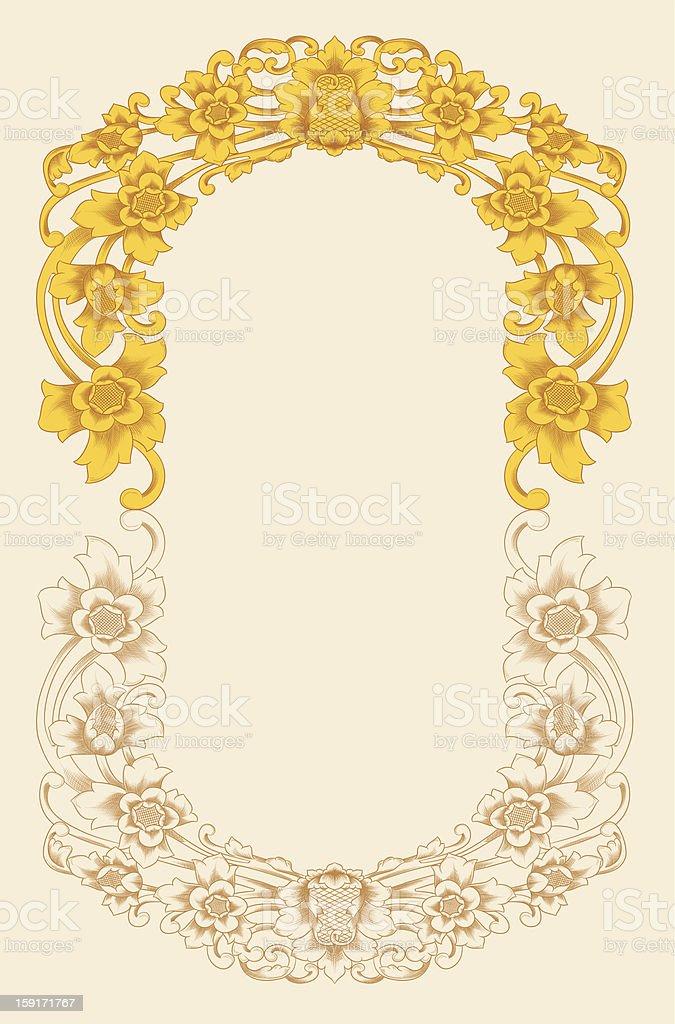 Flower Ornament vector art illustration