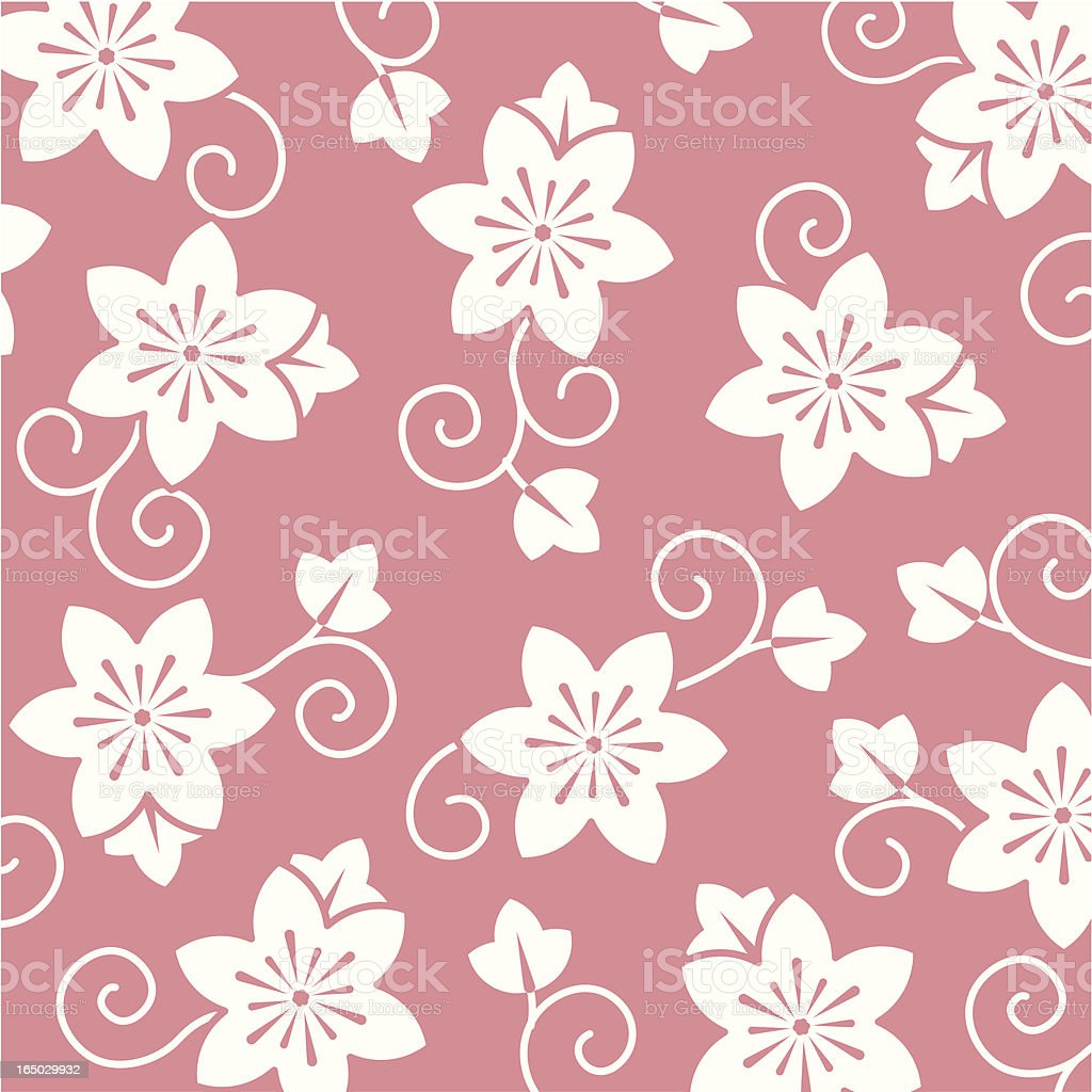 flower pattern 2 royalty-free stock vector art